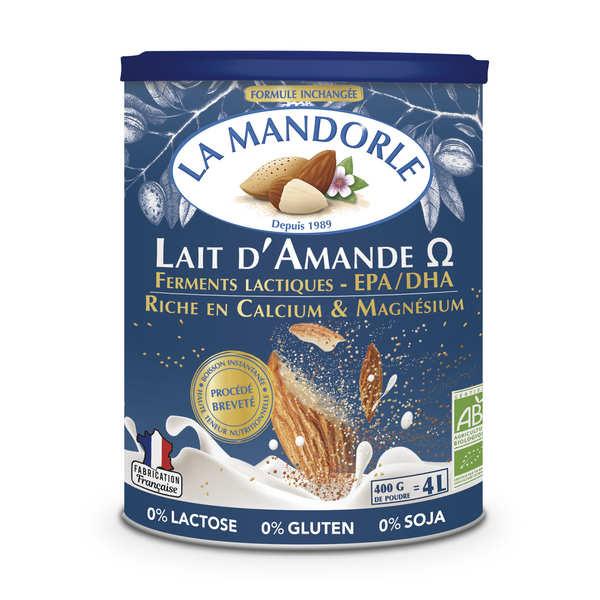 La Mandorle Lait d'amande Oméga en poudre bio - Boîte 400g
