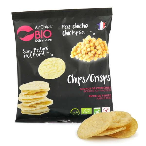 Airchips™ Bio Chips de pois chiche sans friture bio et vegan - Carton de 12 sacs de 30 g