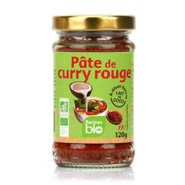 Racines Pâte de curry rouge bio - Pot 120g