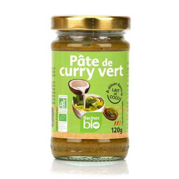 Racines Pâte de curry vert bio - Pot 120g