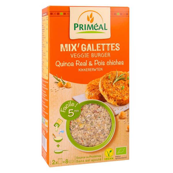 Priméal Mix pour galette de quinoa et pois chiche bio - Sachet 250g