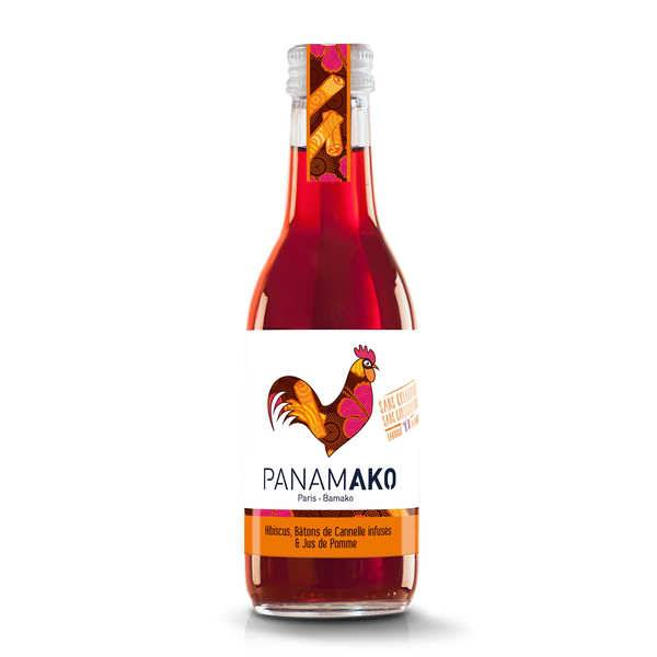 Panamako Hibiscus, bâtons de cannelle infusés et jus de pomme - 6 bouteilles de 25cl