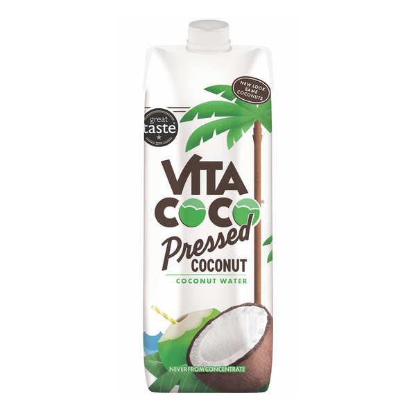 Vita coco - 100% pure eau de coco avec pulpe - 6 bouteilles de 1L