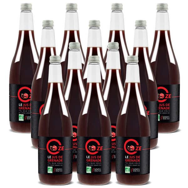 Oze Pur jus de grenade bio Oze offre promo 12 x 1L - 12 bouteilles de 1L