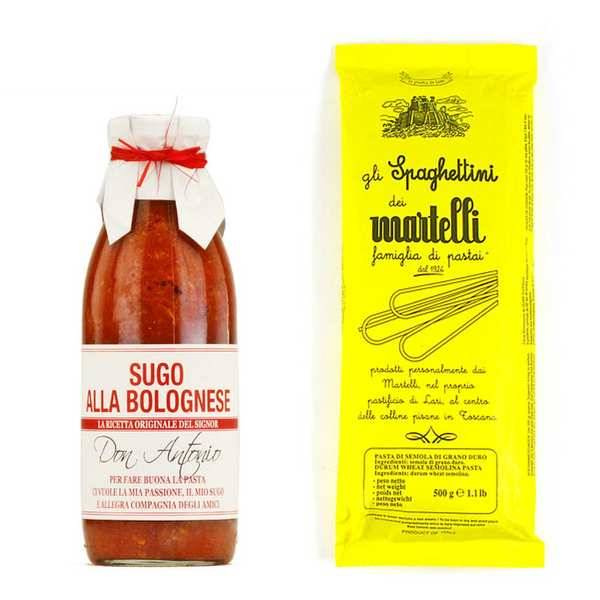 BienManger.com Assortiment de pâtes italiennes et leur sauce bolognaise - 1 sachet de 1kg + 1 pot de 500g