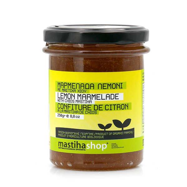 Mastihashop Marmelade de citron au mastic de chios bio - Pot 250g