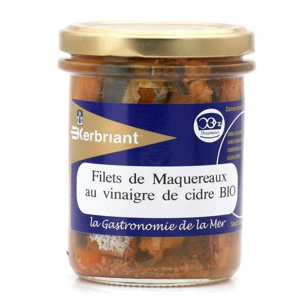 Kerbriant Filets de maquereaux au vinaigre de cidre bio - 3 bocaux de 200g
