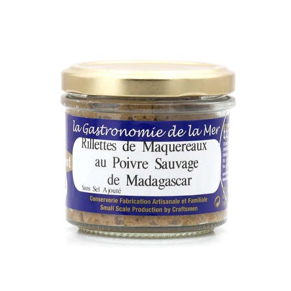 Kerbriant Rillettes de maquereaux au poivre sauvage de Madagascar - sans sel ajouté - 3 verrines de 90g