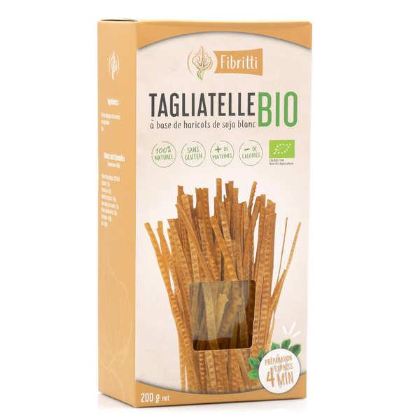 Fibritti Tagliatelles de soja blanc bio sans gluten - 3 boîtes de 200g