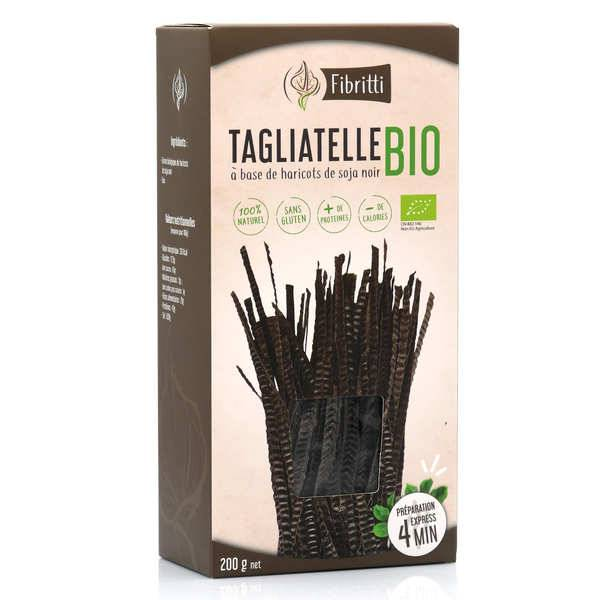 Fibritti Tagliatelles de soja noir bio sans gluten - 3 boîtes de 200g
