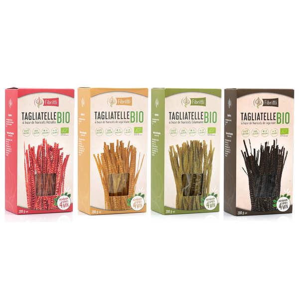 Fibritti Assortiment tagliatelles à base de soja bio sans gluten - 4 boîtes de 200g
