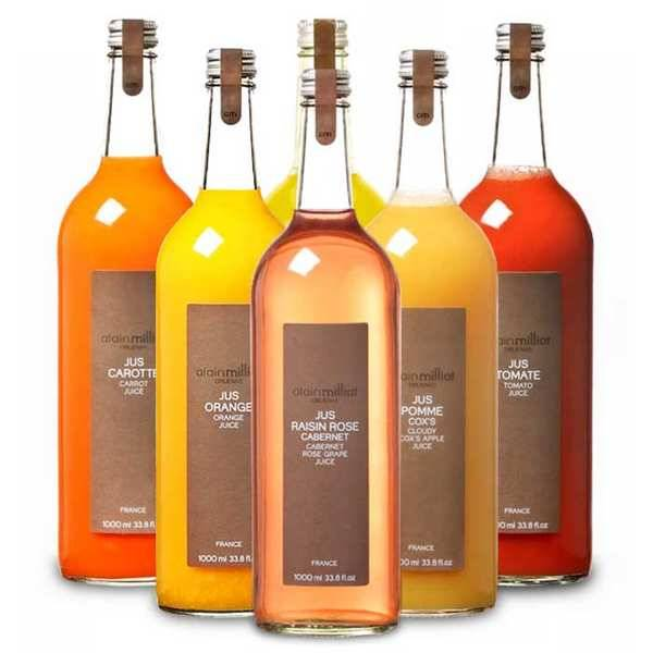 Alain Milliat Assortiment pur jus de fruits Alain Milliat - 6 bouteilles de 1L