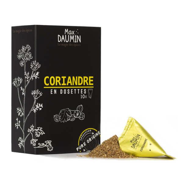 Max Daumin Dosettes de Coriandre d'Inde - Boite de 10 dosettes