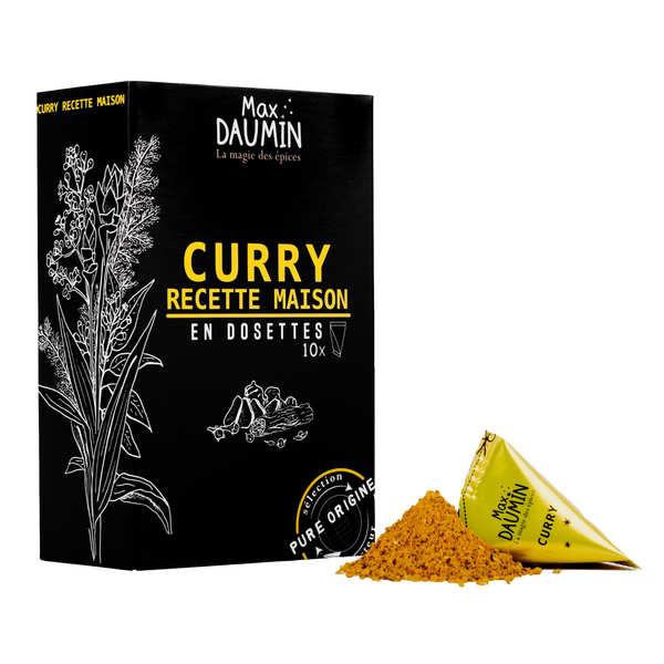 Max Daumin Dosettes de Curry recette maison - Assemblage de 12 épices - Boite de 10 dosettes