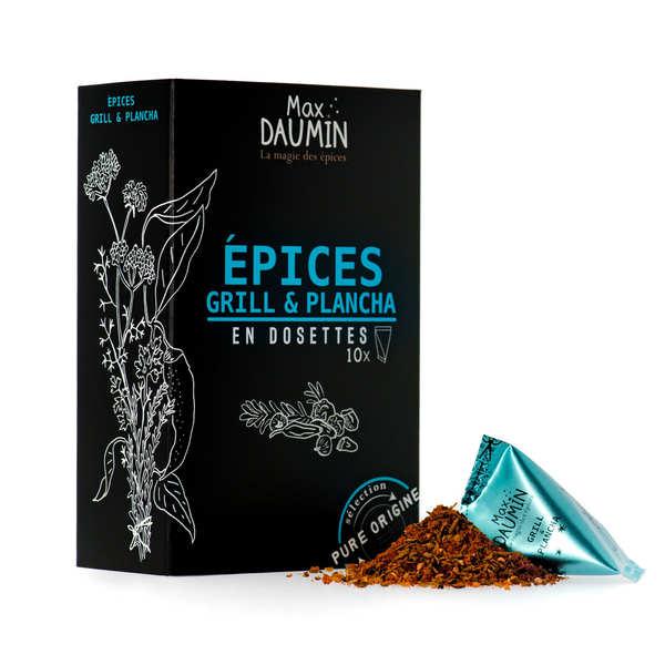 Max Daumin Berlingots de mélange d'épices pour Grill & Plancha - Boite de 10 berlingots