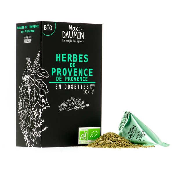 Max Daumin Dosette d'herbes de Provence Bio - Boite de 10 dosettes