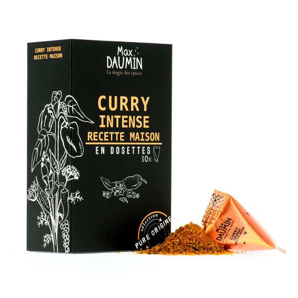 Max Daumin Dosettes de Curry Intense recette maison - Assemblage de 9 épices - Boite de 10 dosettes