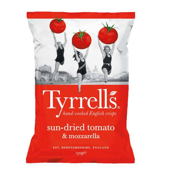 Tyrrells Chips de pommes de terre à la tomate séchée et mozzarella - Sachet 150g