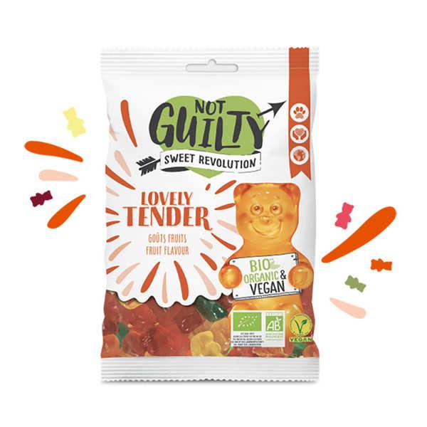 Not Guilty Bonbons aux fruits bio, sans gélatine animale & vegan - Lovely Tender - Sachet 100g