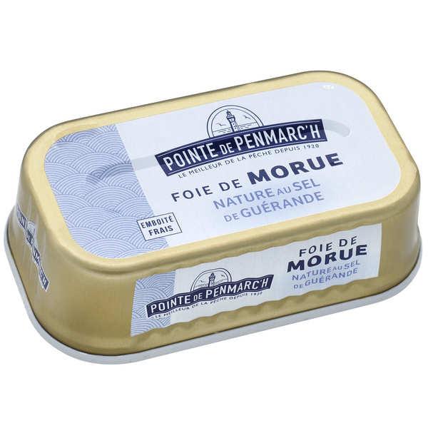 La pointe de Penmarc'h Foie de morue nature au sel de Guérande - Lot de 6 x 121g