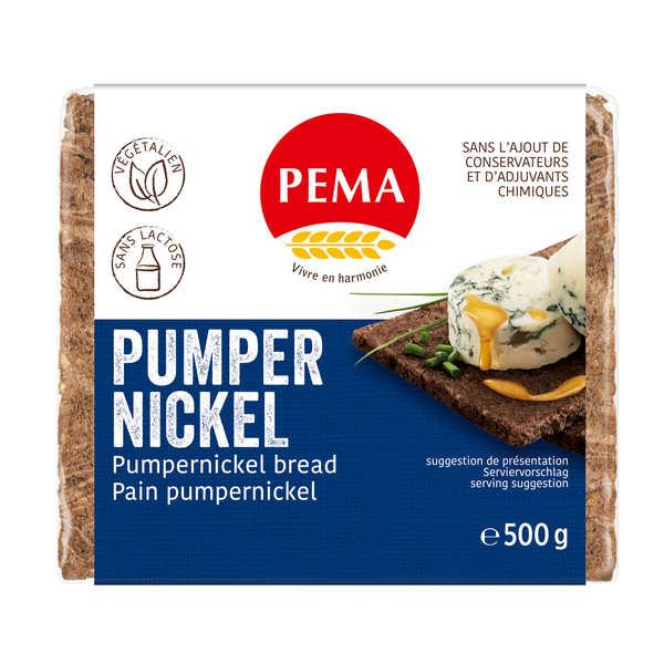 Pema Pain Pumpernickel au seigle - Végétalien, sans lactose - Sachet 500g