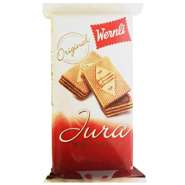 Wernli Gaufrettes Jura au chocolat au lait suisse - Sachet 250g