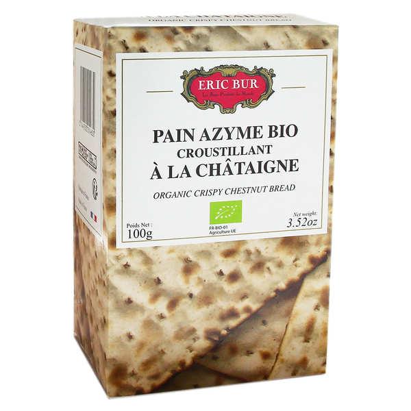 Eric Bur Pain Azyme bio à la farine de Châtaigne - Lot de 4 boîtes 100g