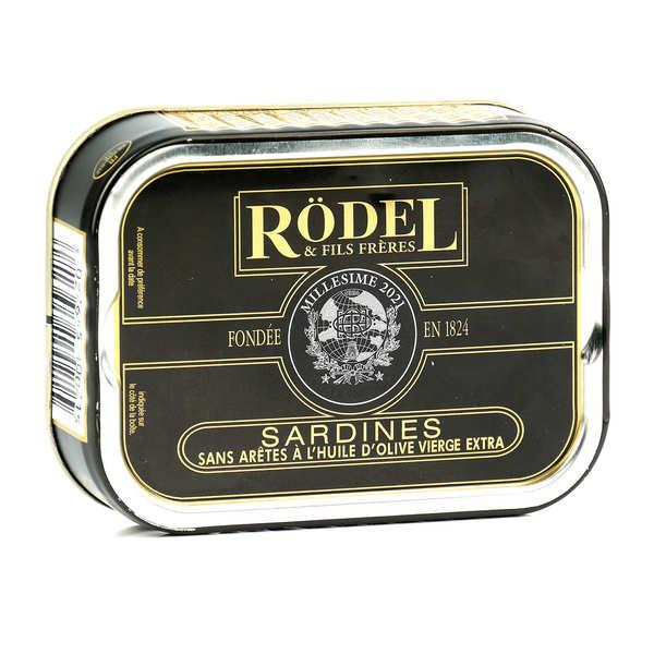Rödel Sardines millésimées sans arêtes à l'huile d'olive - 3 boîtes de 115g