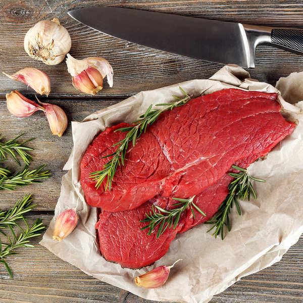 Maison Bousquet Steaks extra Bousquet de boeuf de race à viande du Massif Central - 8 steaks de 160g
