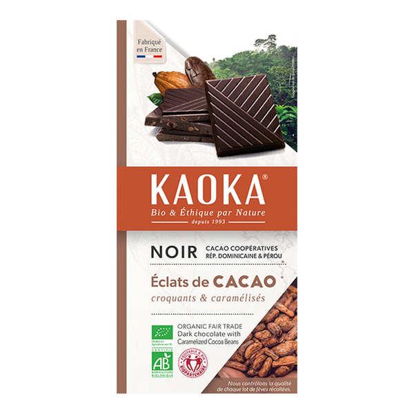 Kaoka Tablette de chocolat noir 70% aux éclats de cacao caramélisés - Tablette 100g