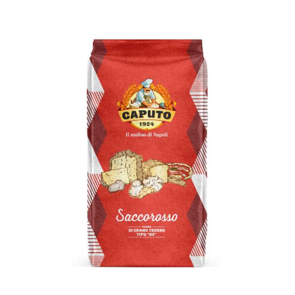 Caputo Farine Caputo Saccorosso - type00 rouge - 400kg (16 sacs de 25kg)