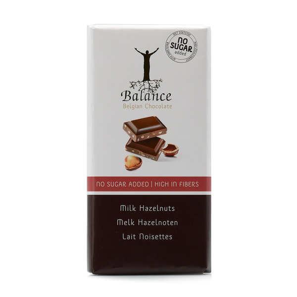 Balance Chocolat au lait et noisettes sans sucre au maltitol - Lot de 3 tablettes de 100g