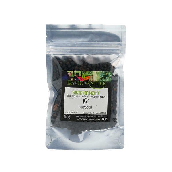 David Vanille Poivre noir en grains de Madagascar Nosy Be - Lot de 6 sachets 100g