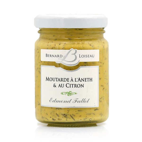 Fallot Moutarde aneth citron - Bernard Loiseau - Lot de 3 bocaux de 10cl