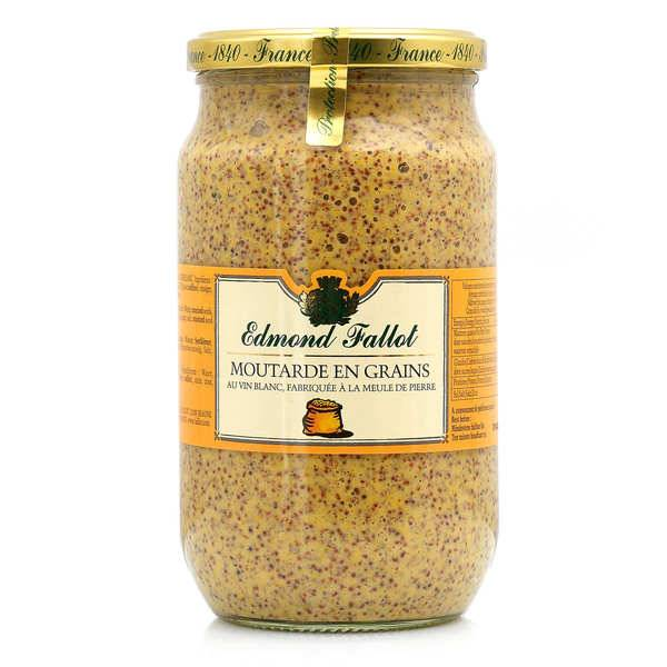 Fallot Moutarde en grains - Edmond Fallot 80cl - Bocal 820g