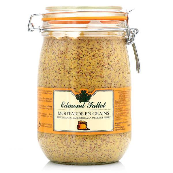 Fallot Moutarde en grains Edmond Fallot en bocal Le Parfait 1.1kg - Bocal Le Parfait 1.1kg