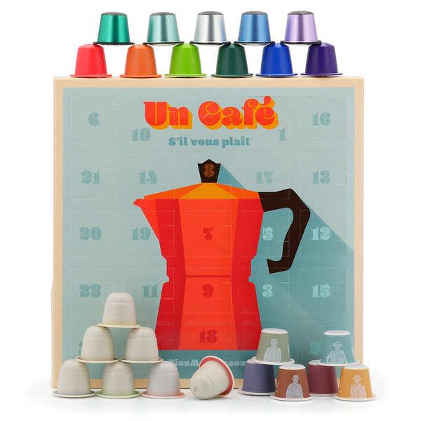 BienManger paniers garnis Calendrier de l'avent 24 capsules de cafés bio pour Nespresso® - 3 cubes de 24 capsules pour Nespresso®