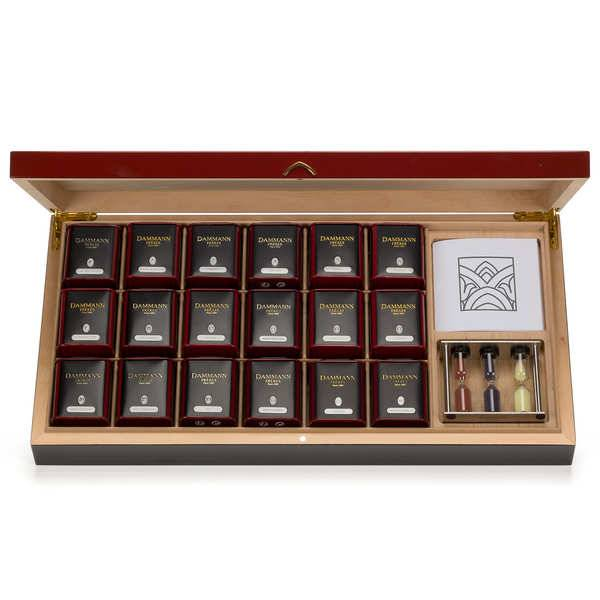 Dammann frères Coffret thé collection rouge - Carmin - 18 mini boites de thés et 1 sablier