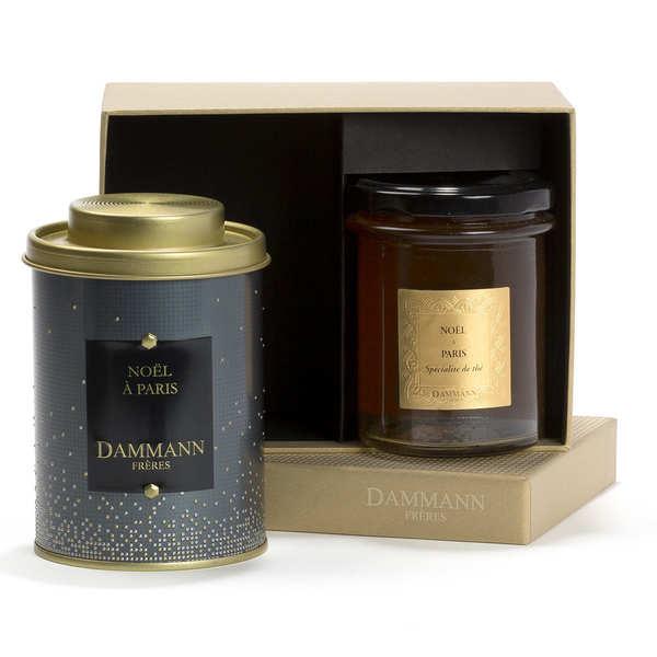 Dammann frères Coffret Christmas Eve - 1 thé & 1 spécialité de thé - Coffret 1 boîte de thé en vrac et une pâte à tartiner au thé