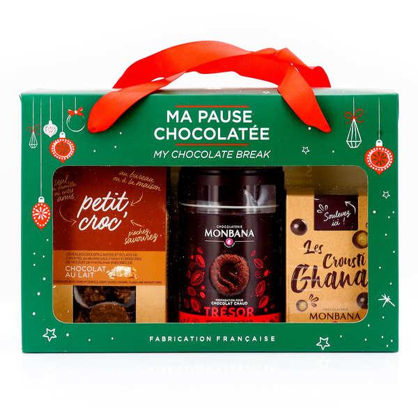 Monbana Chocolatier Coffret Ma Pause Chocolatée Monbana - Coffret chocolat chaud