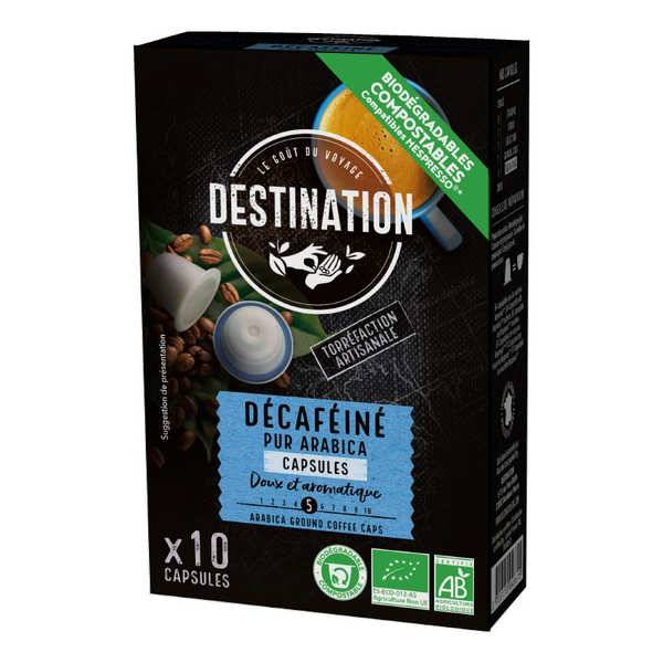 Origines Tea and Coffee Café Déca bio, capsules compatibles Nespresso® - Force 3/10 - Boîte 10 capsules