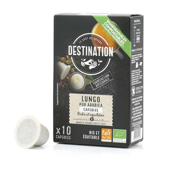 Origines Tea and Coffee Café Lungo bio - capsules biodégradables compatibles Nespresso® - Force 6/10 - Boîte 10 capsules