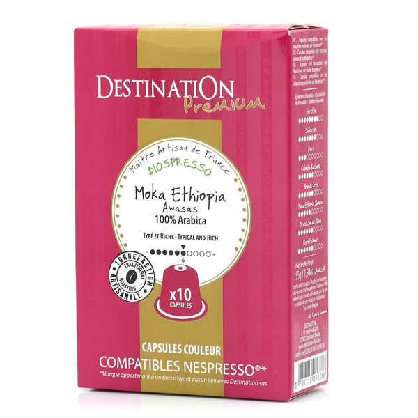 Origines Tea and Coffee Café Moka Awasas bio, capsules compatibles Nespresso® - Force 6/10 - Boîte 10 capsules