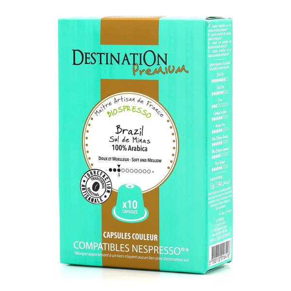 Origines Tea and Coffee Café Brazil Sul de Minas bio, capsules compatibles Nespresso® - Force 3/10 - Boîte 10 capsules