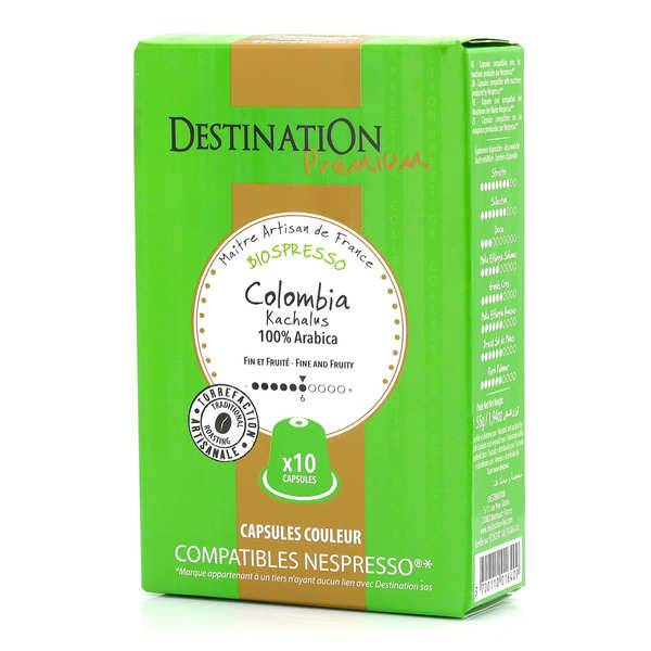 Origines Tea and Coffee Café Colombia Kachalus bio, capsules compatibles Nespresso® - Force 6/10 - Boîte 10 capsules