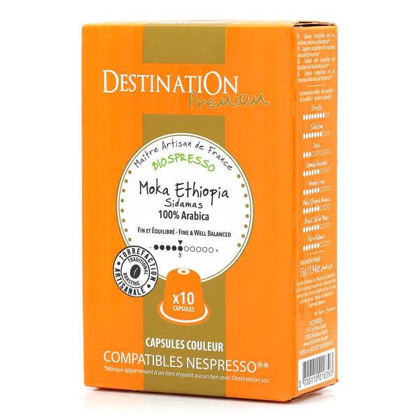 Origines Tea and Coffee Café Moka Sidamas bio, capsules compatibles Nespresso® - Force 5/10 - Boîte 10 capsules