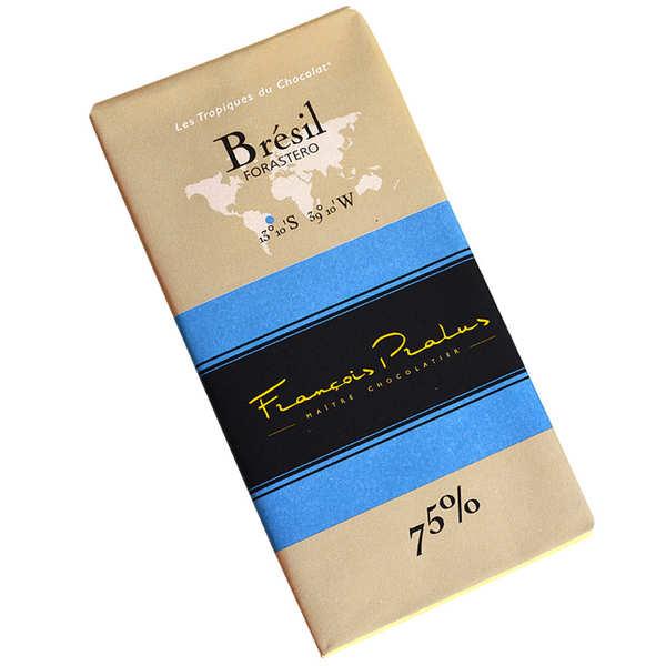 Chocolats François Pralus Tablette chocolat noir Brésil - Forastero 75% - Tablette 100g