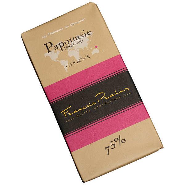 Chocolats François Pralus Tablette chocolat noir Papouasie Nouvelle-Guinée - Trinitario 75% - Tablette 100g