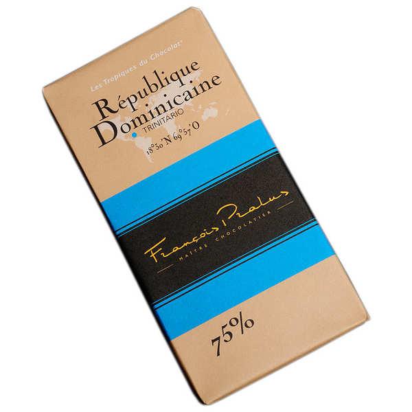 Chocolats François Pralus Tablette chocolat noir République Dominicaine - Trinitario 75% - Tablette 100g