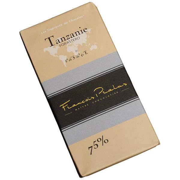 Chocolats François Pralus Tablette chocolat noir Tanzanie - Forastero 75% - Tablette 100g